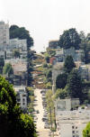 "Another sight identifiable as San Francisco is the short run of  				Lombard Street through its ""esses."""